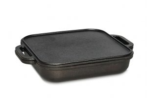 Jim Beam Cst Iron 3 in 1 Skillet with Reversible Griddle 1