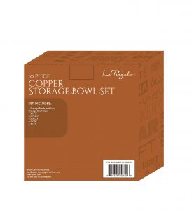 Le Regalo Kitchen, 10pcs Copper Storage Bowl set 1