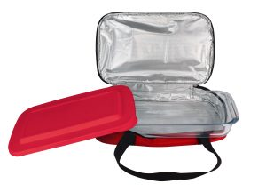 Le Regalo Kitchen Glass Casserole Dish w Insulated Bag